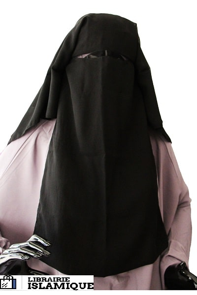 NIQAB LONG NOIR