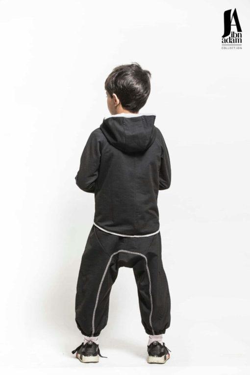 ensemble-jogging-enfant-noir-ibn-adam-dos